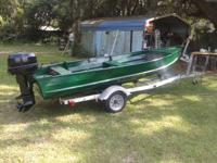 I HAVE FOR SALE IN GOOD CONDITION A 14FT JON BOAT WITH