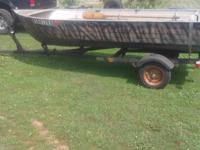 14ft Mirrocraft alum fishing boat with nice tilt