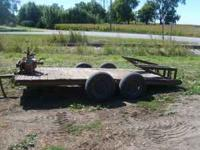 for sale is a 6x14 skid loader trailer has implement
