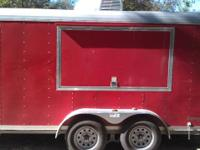 14 Foot cargo Catering wagon, two doors in the back,
