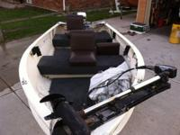14ft fishing boat with foot control trolling motor and