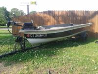 I have a 14 to 15ft fiberglass V-bottom boat, great