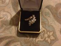 Ladies 14k polished two tone diamond ring 900.00 neg,
