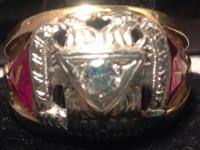 Quite one-of-a-kind Shriner ring. This is not any sort