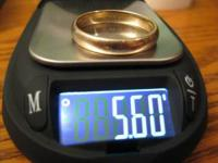 I have a 14k solid gold mens wedding band that's been