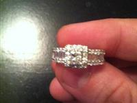 14K White Gold Diamond 1.36 overall CTS weight diamond