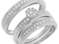 Uneeks Jewelry An elegant 14K White gold matching trio