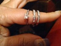 14K white gold wedding set 2.5 total weight of precious