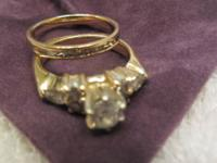 Custom Made 14k Yellow Gold Engagement Ring set in