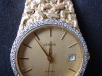 This is a stunning Swiss made Geneve wristwatch in 14k
