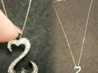 14k white gold open heart infinity locket. Real