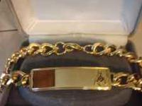 14KT Gold plated Masonic Braclet paid $100 for letting