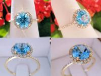 14KT White Gold with Three Aquamarine Ring Price: $750