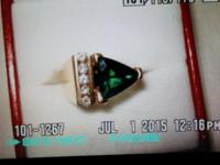 ABSOLUTELY GORGEOUS 2.0CT Tourmaline & Diamond Ring!