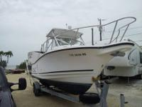 1997 Robalo 2540 walkaround cuddy cabin powered by twin