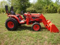 For sale a 2003 Kubota B 7800 tractor. 4 Wheel Drive