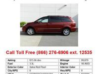 2004 Toyota Sienna Salsa Red Pearl XLE 4dr All-wheel