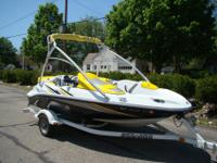 This Sea Doo Jet Boat features an intercooled 215 hp