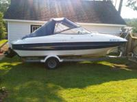 BOAT FOR SALE. 2005 Bayliner with inboard 5.0 v8 220