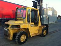 This Caterpillar forklift is diesel with a 15,000 pound