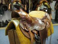 "15 1/2"" Roper Saddle Semi QH Bars Yellow Padded Slick"