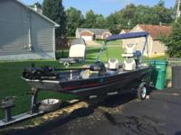 Please call owner Roger at . Boat is in Vine Grove,