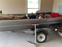 2001 15/44 weld craft, with trailer and trolling motor,