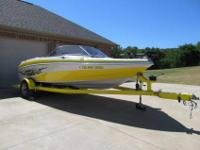Matching trailer with surge brakes, boat has low hours