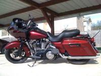 2008 Harley Road Glide. 10,200 miles. Red/Maroon with