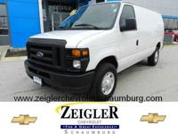 2008 FORD E-SERIES CARGO 3/4 TON CARGO VAN - LOW MILES,