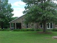 15 ACRES, NATIVE STONE TRI LEVEL HOME, POND, ADJOINS