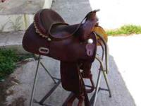 Made by Custom Saddles in Greenville, TX. This saddle