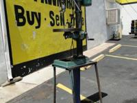 "15"" Bench Top Type Drill Press with Custom Stand 110v,"