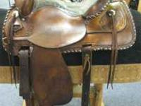 "15"" Bona Allen Saddle Full QH Bars 3 Way Rigging Silver"