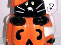 Halloween Cookie Jar made for David's Cookies. The jar