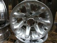 I have a set of (4) 8 X 5.5 Alloy Rims. Rims are in