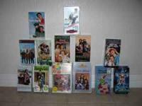15 Christmas VHS movies for sale. All in excellent