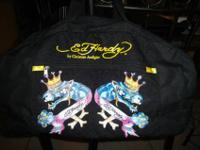 ED HARDY DOUBLE PANTHER TOTE/ DUFFLE BAG 100% AUTHENTIC