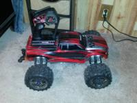 This is a traxxas 15 Emaxx 4x4 brushless mamba monster