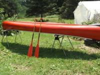 "heres a 15 foot""derby""fiberglass canoe.its in great"