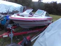 Clean boat runs good 100 hp outboard has a built in 2
