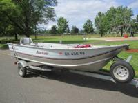 15 Foot Smoker Craft Aluminum Fishing Boat For Sale -