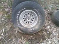 "4- 15"" ford rims 'Z racing' $100"