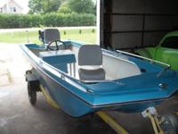 15' Forester tri hull boat with  motor and trailer used
