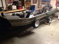 15 foot flat bottom fishing vessel for sale. Equipped