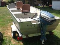 Hello I got a 15 ft deep v aluminum boat for sale. The