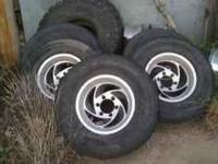 Razor directional wheels with tires for and 6 hole