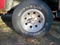 I have 4 15 inch 6 lug Chevy chrome wheels and tires.