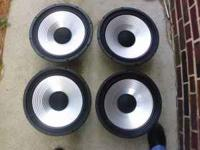 2 Sets of 15 inch Bass and Mid-Range Aluminum Cone
