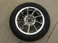I am selling four 15 inch chrome wheels with super low